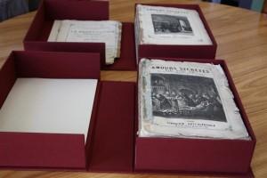 Boîte de conservation pour une collection particulière, boite pour livres
