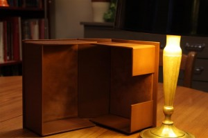 Boîte de conservation en cuir, boite pour livres