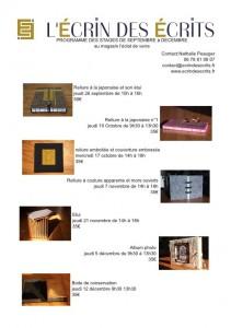 """Programme des stages intégralement consultable à la rubrique """"programme des stages"""" du site"""