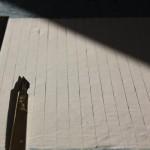 Découpe des onglets:le livre est une édition contemporaine. Composé de feuillets simples, il a fallu composer moi-même les cahiers.