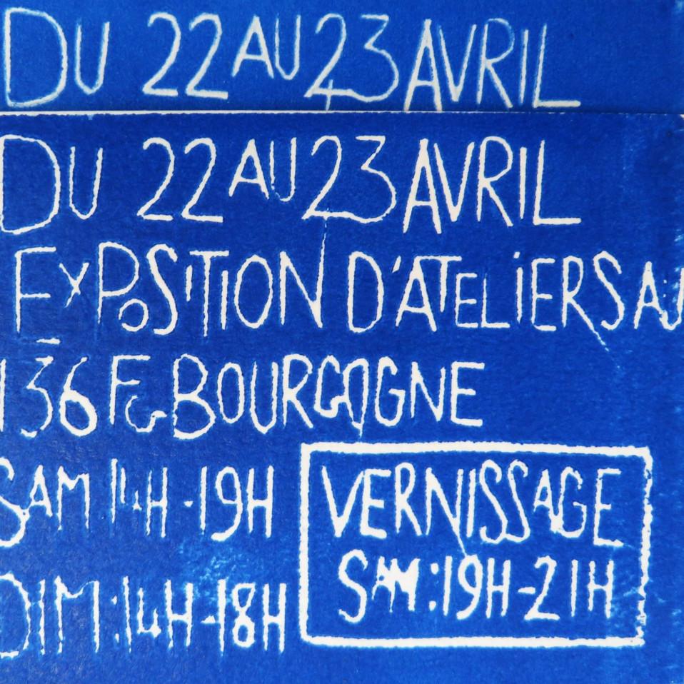 Exposition de nos ateliers du 22 au 23 avril