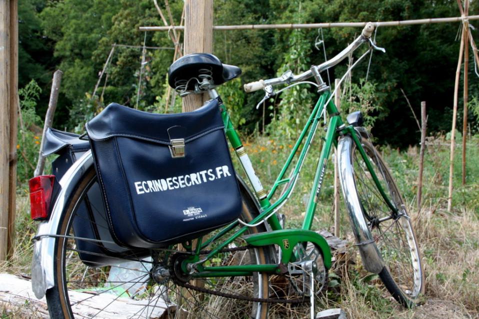 Le vélo publicitaire de l'atelier