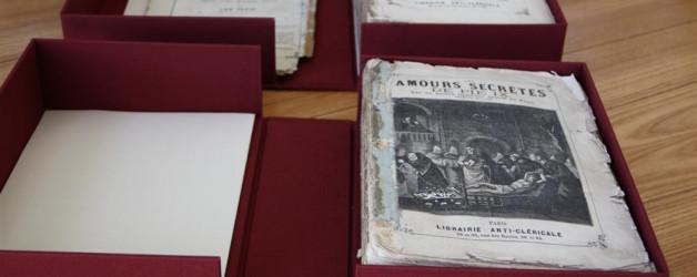 Boîtes de conservation pour une collection particulière